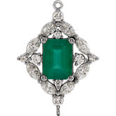 Emerald 4-Prong Halo-Style Intermediate Link