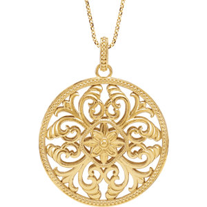 Necklace / Chain , Filigree Necklace or Pendant