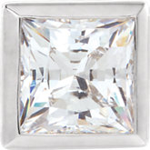 Square Bezel-Set Pendant Slide