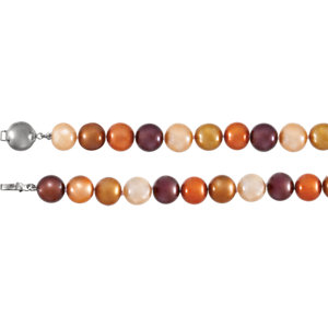 Sterling Silver Freshwater Cultured Dyed Chocolate Pearl 7.75
