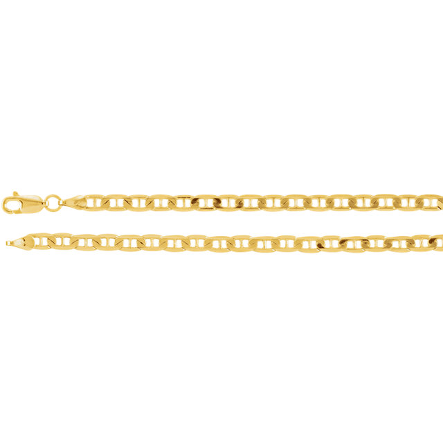 14K Yellow 3.7 mm Solid Anchor 24