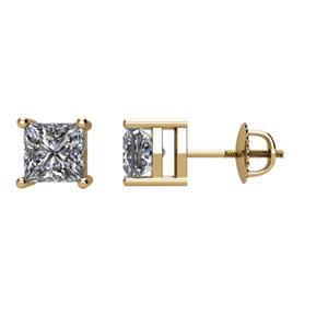Earrings , 14K Yellow 3/4 CTW Diamond Earrings