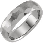 Faceted Band with Satin Finish