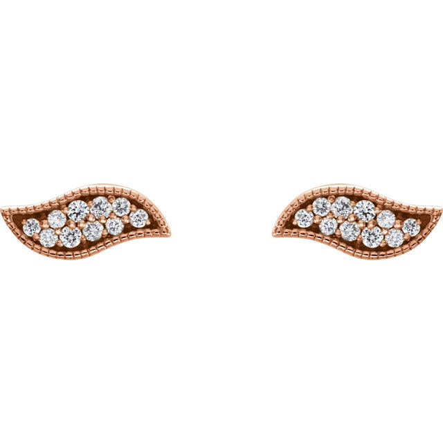 14K Rose .07 CTW Diamond Earrings