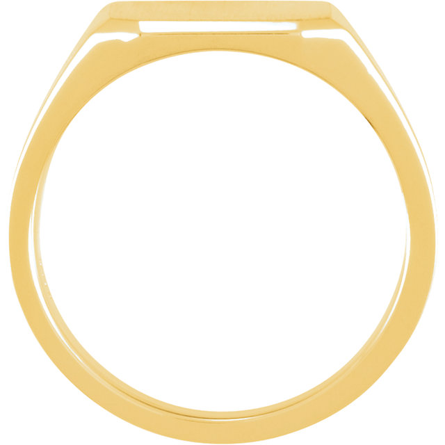 10K Yellow 14 mm Men-s Solid Signet Ring