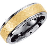 Tungsten & Karat Gold Inlay Band