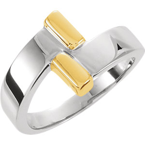 Fashion Rings , 14K Two-Tone Bypass Ring