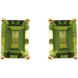 14K Yellow Peridot Earrings