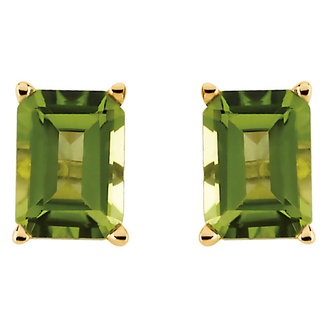 14K Yellow Peridot Earrings