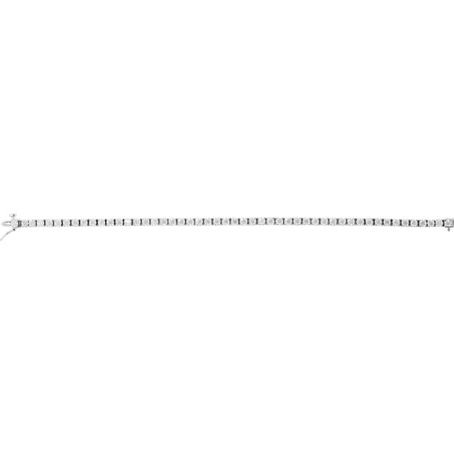 14K White 5 1/4 CTW Diamond Line 7 1/4