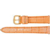 Ladies Leather Alligator Grain Padded Watch Strap