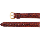 Ladies Genuine Crocodile Padded Watch Strap