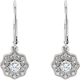 Charles & Colvard Moissanite® & Diamond Accented Earrings