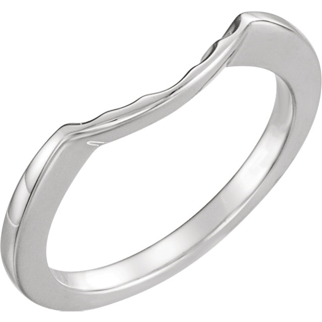 14K White Matching Band for 5.8 mm Round Ring