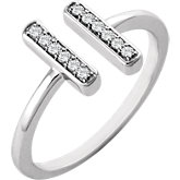 1/10 CTW Diamond Bar Ring