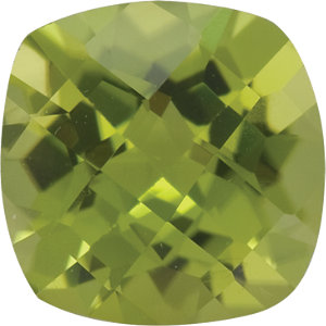 Peridot Cushion 0.70 carat Green Photo