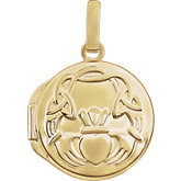 Claddagh Symbol Round Locket