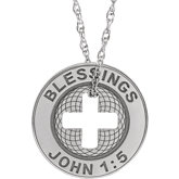 Engravable Blessings Token Necklace