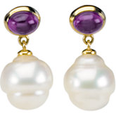 Accented Earrings for Pearl