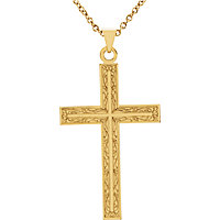 Decorative Cross Pendant with Bail