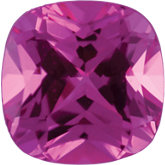 Antique Square Chatham Created Pink Sapphire