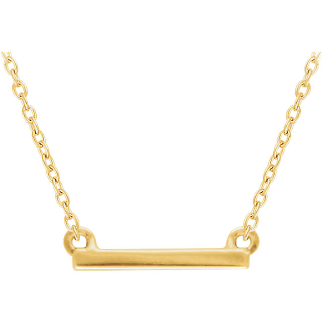 14K Yellow Petite Bar 16-18