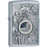 Zippo® Joined Forces Emblem Street Chrome™ Lighter