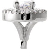Marquise 4-Prong Halo-Style French-Set Peg Setting