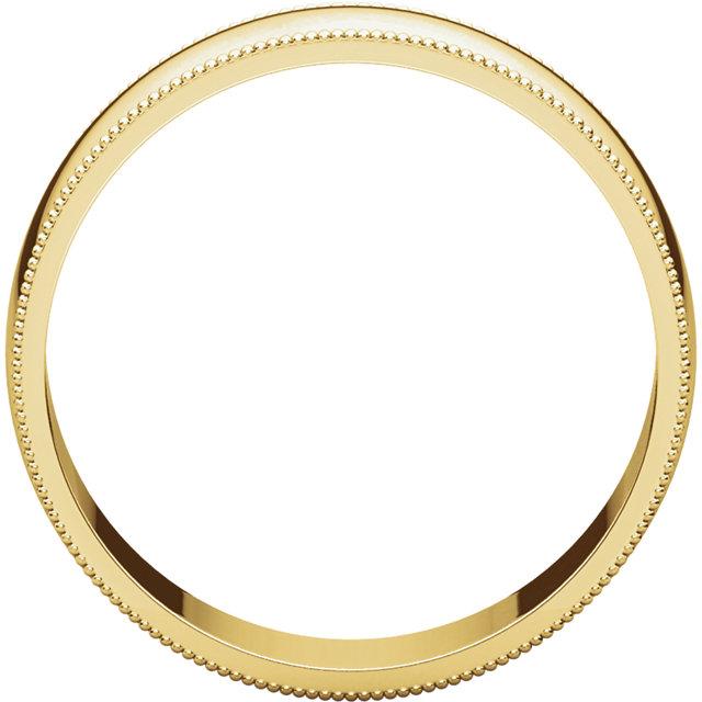 10K Yellow 6 mm Lightweight Milgrain Band
