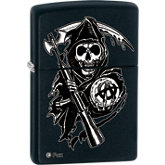 Zippo® Son's of Anarchy™ Fox© Grim Reaper Black Matte Lighter