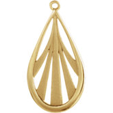Vintage-Inspired Teardrop Shaped Dangle