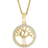Accented Tree of Life Necklace