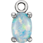 Oval 4-Prong Cabochon Dangle