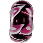 Kera® Red Swirl Glass Bead