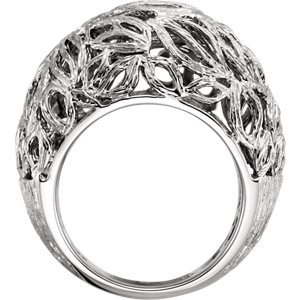 Sterling Silver Textured Bark Dome Ring
