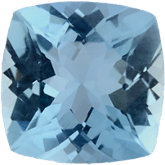 Antique Square Genuine Aquamarine (Black Box)