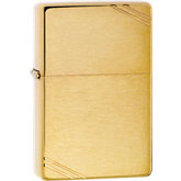 Zippo® Vintage™ Brushed Brass Lighter