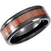 Casted Band with Wood Inlay