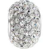 Kera® Roundel Bead with Crystals