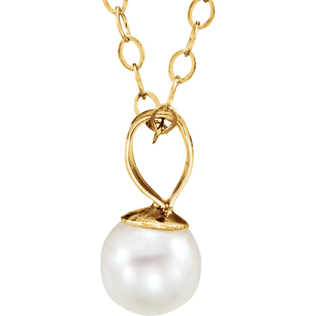 14K Yellow Youth Pearl 15