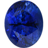 Oval Genuine Blue Sapphire (Black Box)
