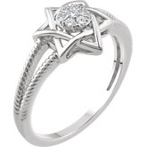 Accented Star of David Ring
