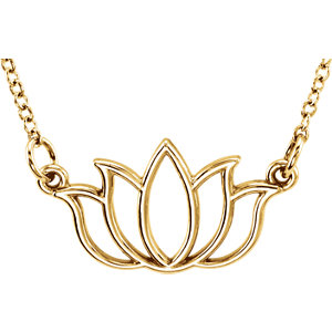 14K Yellow Tiny Posh® Lotus 16-18