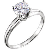 4-Prong Flat Base Solitaire Engagement Ring