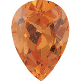 Pear Genuine Spessartite Garnet