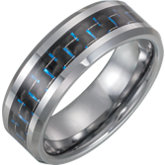 Tungsten Band with Black Carbon Fiber Inlay