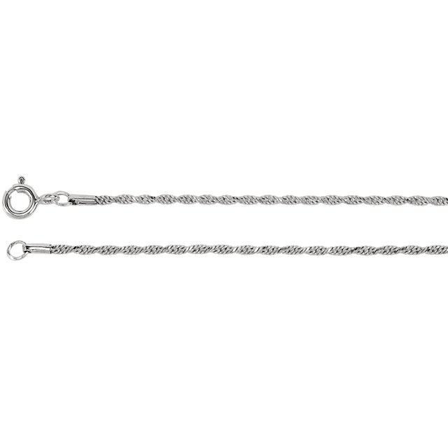 1.5 mm Diamond Cut Rope Chain