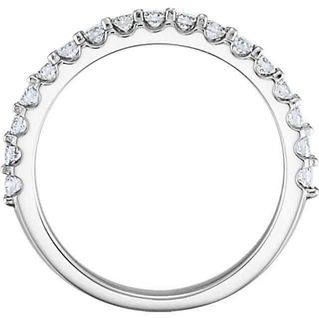 14K White 1/2 CTW Diamond Band