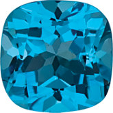 Antique Square Genuine Swiss Blue Topaz
