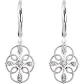 Accented Granulated Filigree Earrings